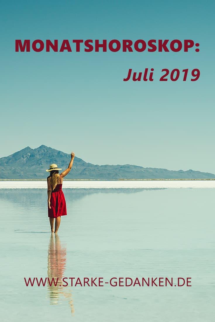 Monatshoroskop: Juli 2019