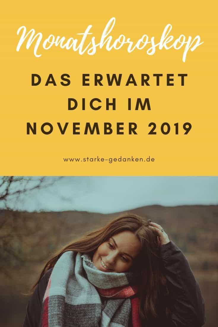 Monatshoroskop: Das erwartet dich im November 2019