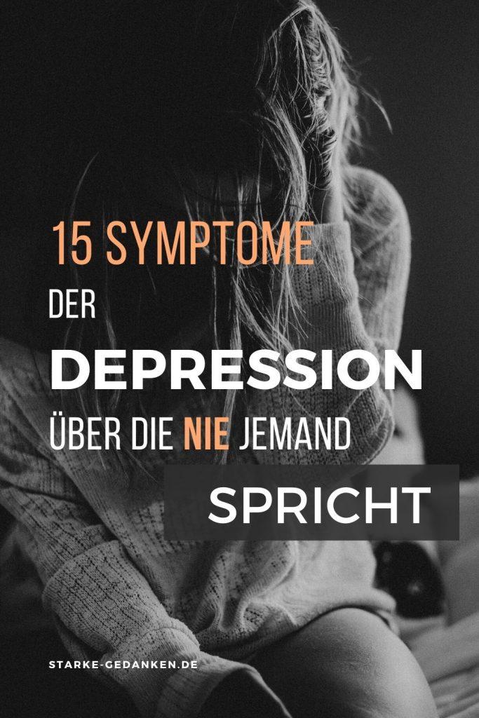 15 Symptome der Depression, über die nie jemand spricht